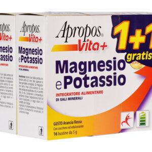 Apropos Vita+ integratore alimentare di Magnesio e Potassio 1 confezione +1 GRATIS