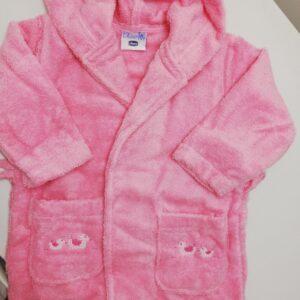 Chicco accappatoio spugna rosa-azzurro-ecrù 12 mesi e 24 mesi