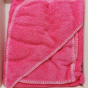 Chicco quadrato spugna con asciugamano rosa